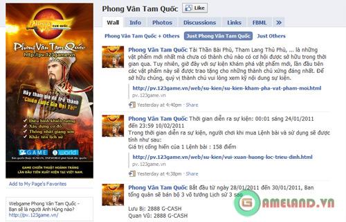 Phong Vân Tam Quốc đón Tết 2011 trên Facebook 1