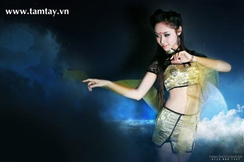 Hồng Khánh gợi cảm với cosplay Khuynh Thành Tiên Tử 5