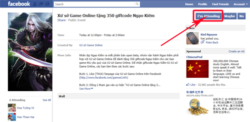 Xứ sở Game Online tặng 350 giftcode Ngạo Kiếm 2