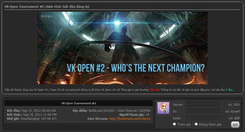 VK Open Tournament 2 bắt đầu quá trình đăng ký 1