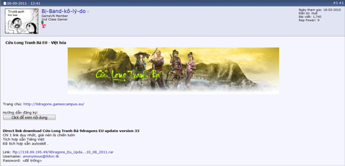 Game thủ Việt háo hức với Cửu Long Tranh Bá EU 2