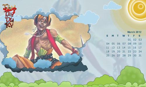 Game thủ Tây Du Ký trổ tài thiết kế lịch 2012 3