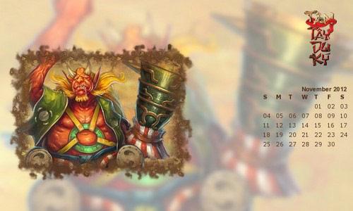 Game thủ Tây Du Ký trổ tài thiết kế lịch 2012 11
