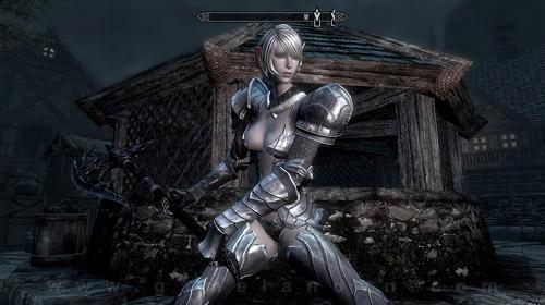 Nữ chiến binh Tera Online gợi cảm trong Skyrim 4