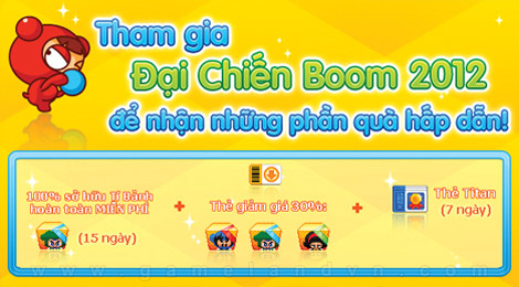 Boom Online tặng 200 giftcode Đại chiến 2012 1
