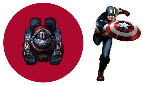 Đội trưởng người Mỹ xuất hiện trong game online 1