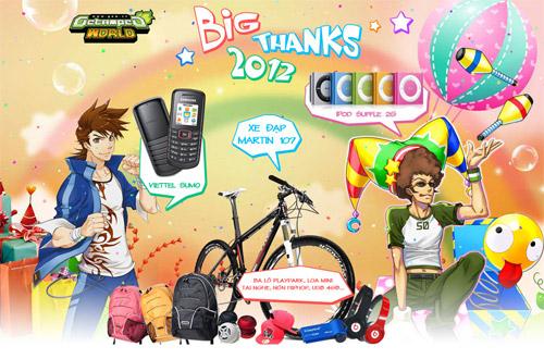 Thế Giới Bá Vương ra mắt sự kiện Big Thanks 2012 2