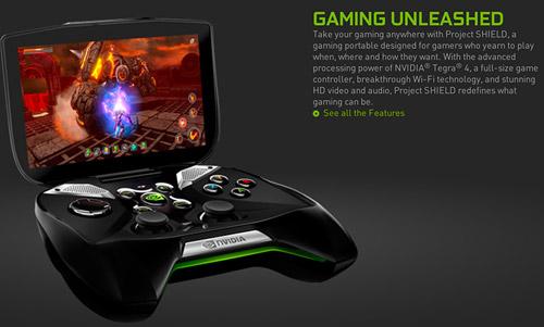 Nvidia giới thiệu máy chơi game Project Shield 7