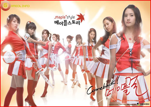 Girls Generation rực rỡ trong cosplay Maple Story 2