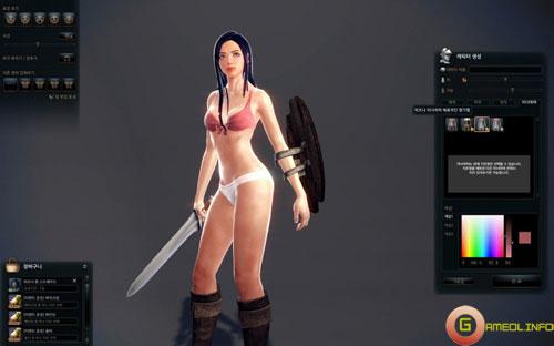 Mabinogi Heroes cho phép tinh chỉnh nội y nhân vật