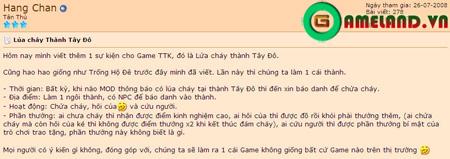 Game thủ Thuận Thiên Kiếm đòi … đốt thành 4