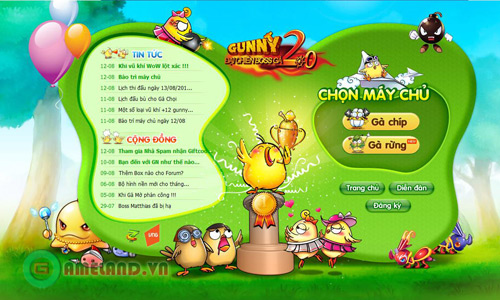 Xứ sở Game Online tặng 1000 Giftcode Gunny Online 2
