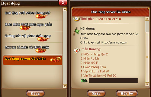 Xứ sở Game Online tặng 500 Giftcode Gunny Online 3