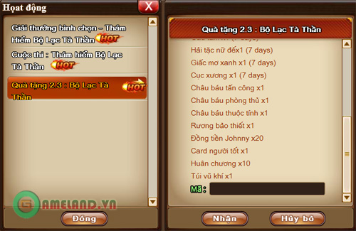 Xứ sở Game Online tặng 500 Giftcode Gunny 2.3 3